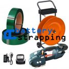 TES 12-16mm (1/2″ to 5/8″) battery strapping tool + 2 Batteries & Charger + PET strap 16mm + dispenser