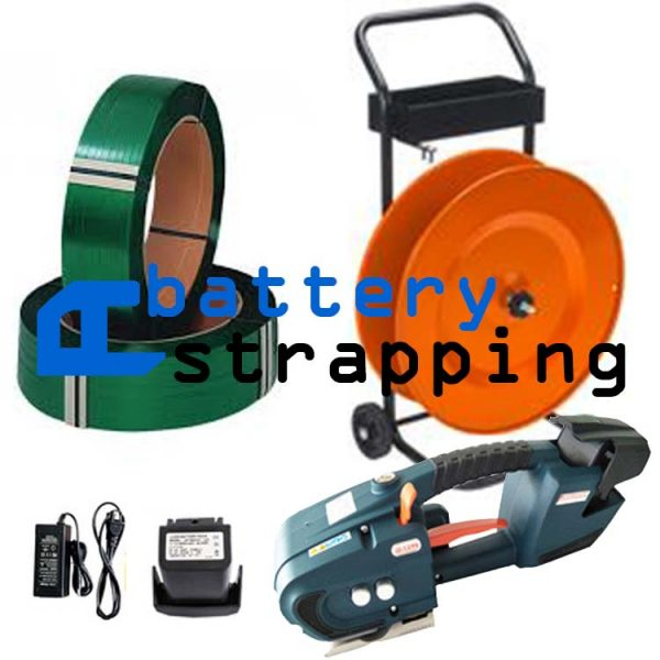 Battery strapping tool TES 12-16mm + dispenser + PET strap